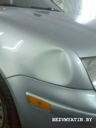 VW BORA - вмятина на переднем правом крыле