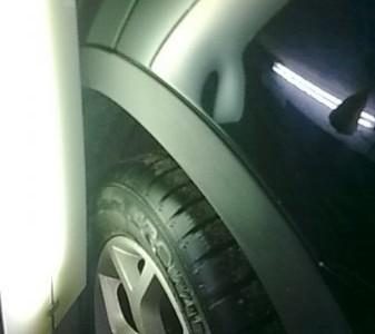 BMW X5 — вмятина на левом заднем крыле