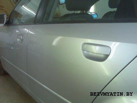 AUDI A4 - удалена вмятина на левой задней двери