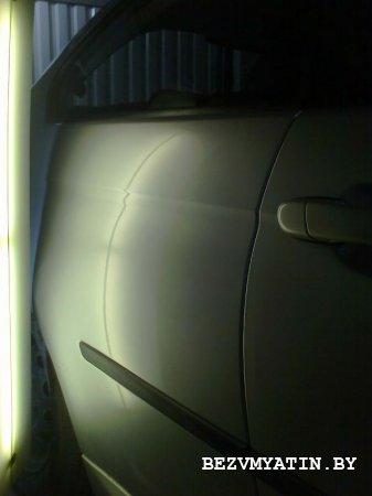 BMW 320 - удалена вмятина на заднем правом крыле