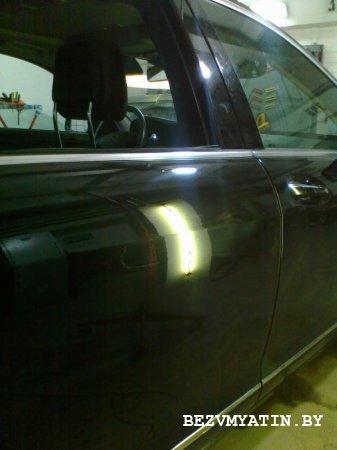MERCEDES S- KLASSE - после удаления вмятины на правой задней двери