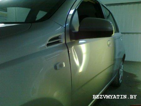 HEVROLET AVEO - вмятина на водительской двери