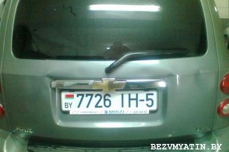 CHEVROLET HHR — вмятина на крышке багажника