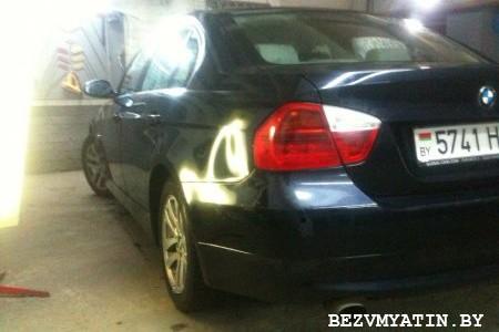 BMW — вмятина на заднем левом крыле