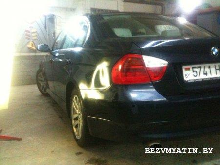 BMW - вмятина на заднем левом крыле