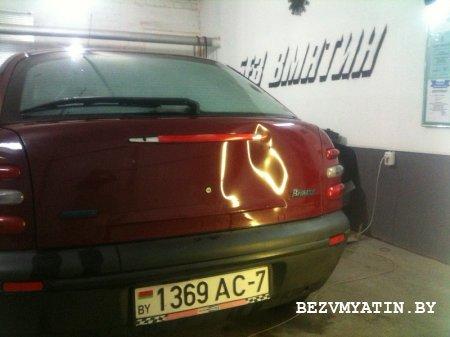 FIAT BRAVO - вмятина на крышке багажника