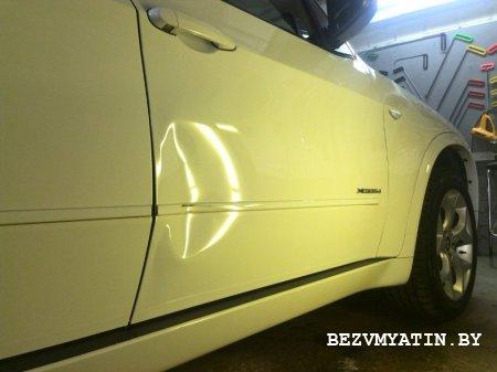 BMW X5 - вмятина на правой передней двери