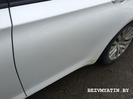 BMW F01 -удалена  вмятина на задней левой двери