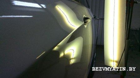 HYUNDAI ACCENT - выправлена вмятина на водительской двери