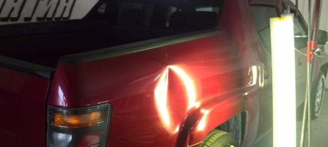 Хонда Риджлайн вмятина на заднем правом крыле
