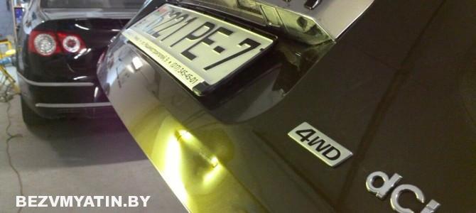 Renault Duster — вмятина на крышке багажника