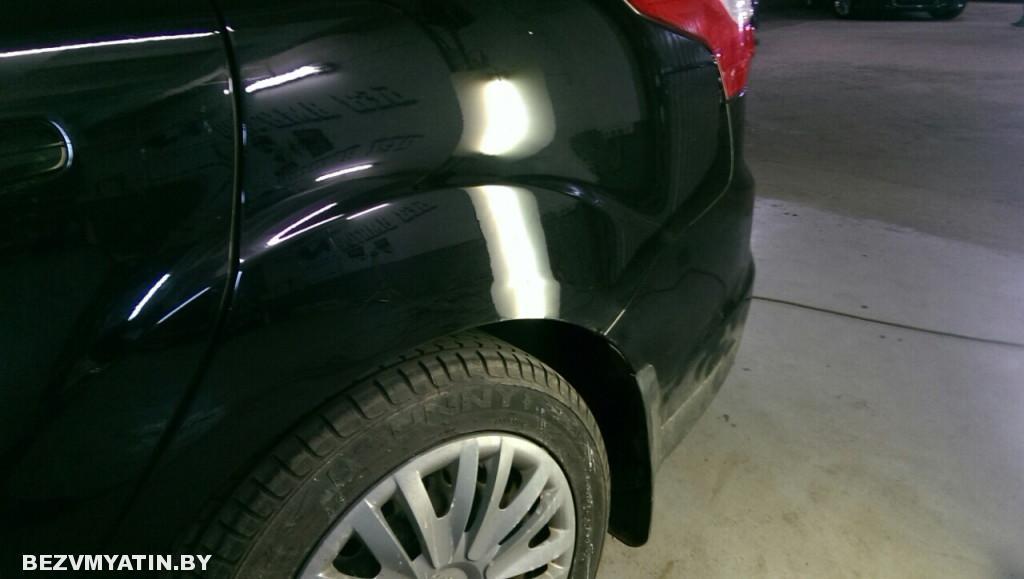 форд - вмятина на крыле после ремонта