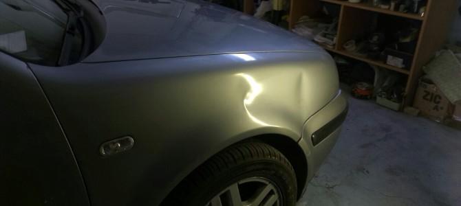 VW GOLF — вмятина на переднем правом крыле