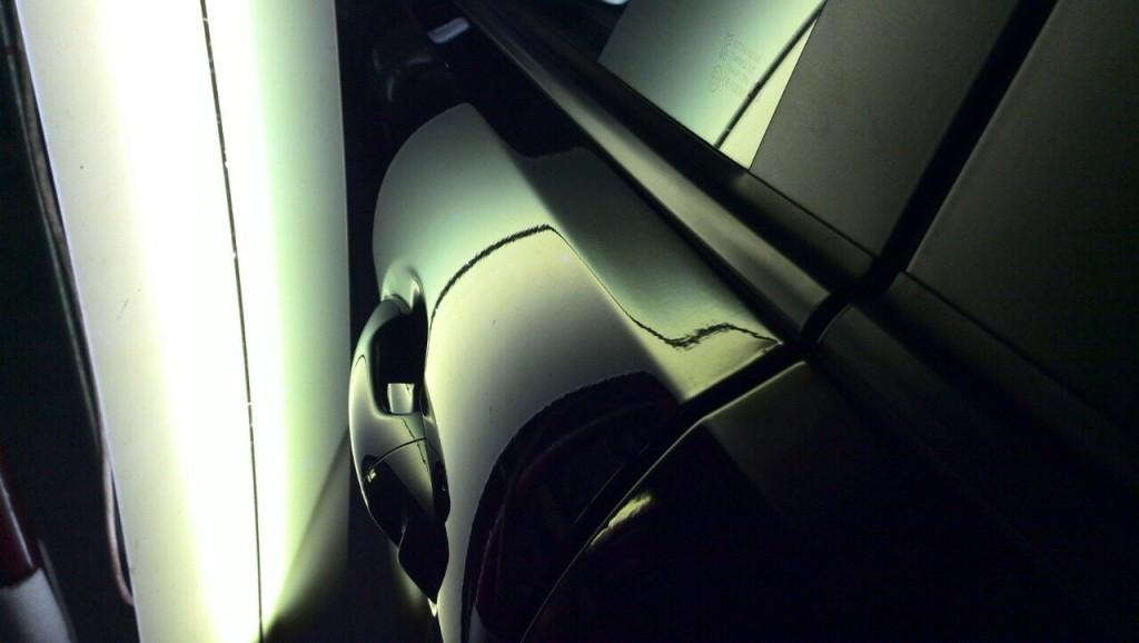 Kia Rio - дверь после ремонта