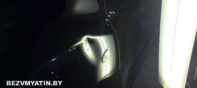 Nissan Juke — вмятина на переднем левом крыле