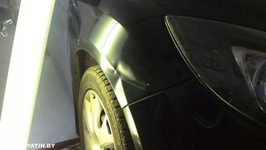 Ford Focus - вмятина до ремонта