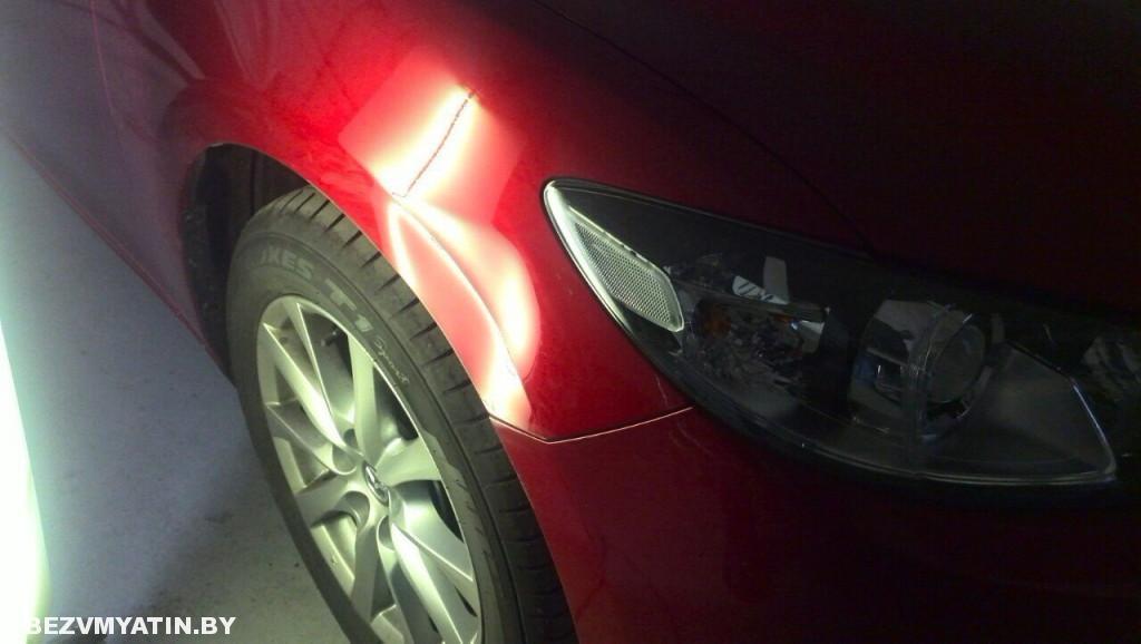 Mazda 6 - вмятина до ремонта
