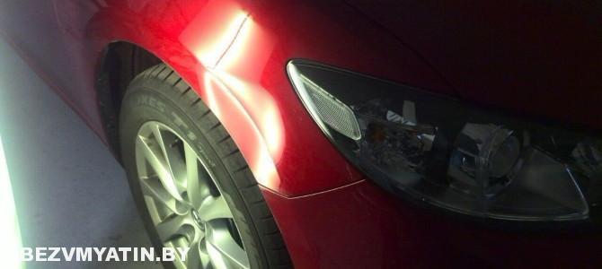Mazda 6 — вмятина на переднем правом крыле