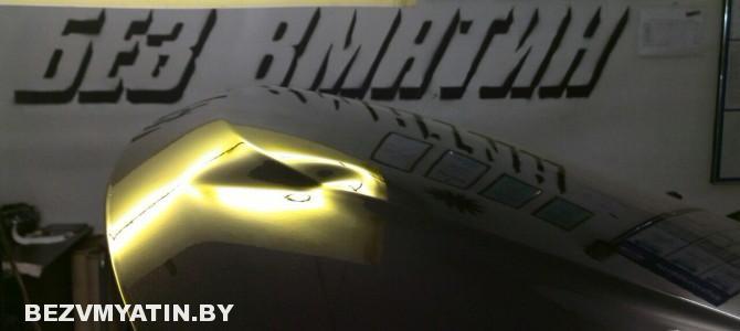 Renault Duster — вмятина на капоте
