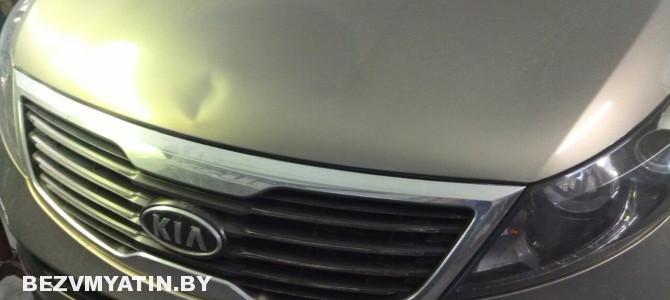 Kia Sportage — вмятина на капоте