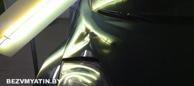 Nissan Juke — вмятина на капоте