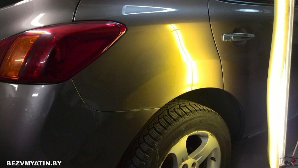 Nissan Murano - вмятина на заднем правом крыле после ремонта