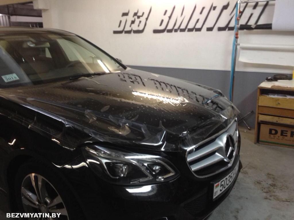 Mercedes-Benz оклейка передней части полиуретановой пленкой Нexsis Bodyfense