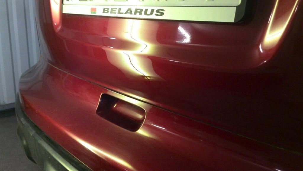 Honda CRV - вмятина на крышке багажника после удаления