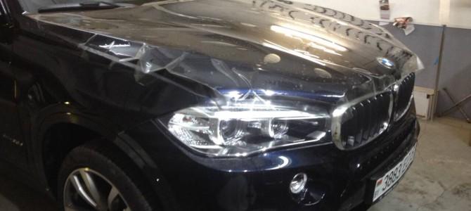 BMW X6 — ОКЛЕЙКА ПОЛИУРЕТАНОВОЙ ПЛЕНКОЙ HEXIS BODYFENCE
