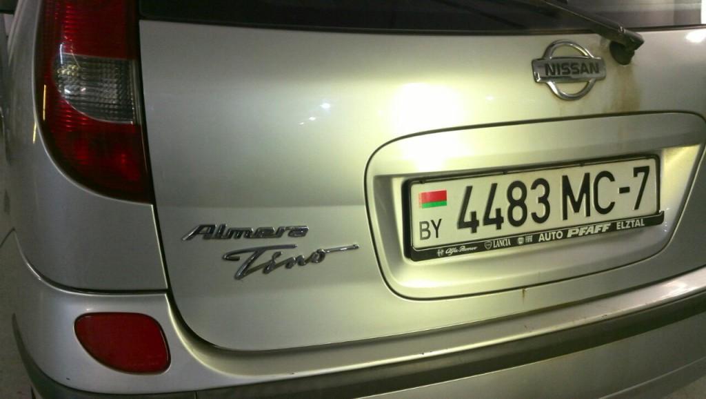 Nissan Almera Tino - вмятина на крышке багажника после ремонта