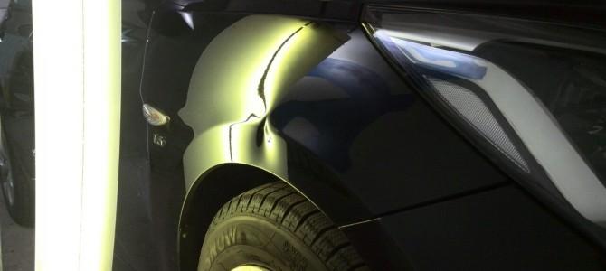 Hyundai Solaris — вмятина на переднем правом крыле
