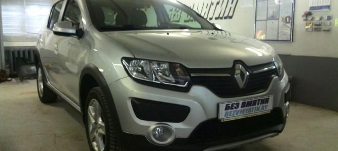 Renault Sandero — вмятина на заднем левом крыле