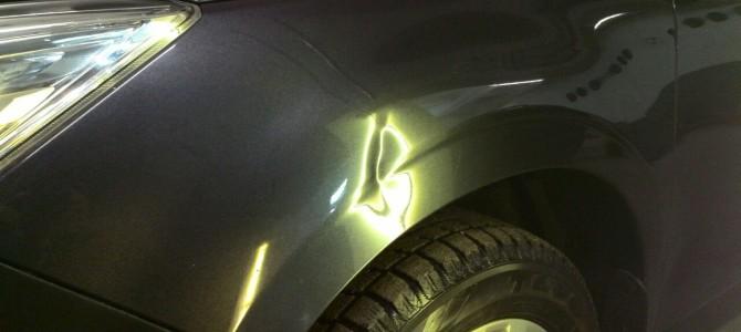 Subaru Forester — вмятина на переднем левом крыле