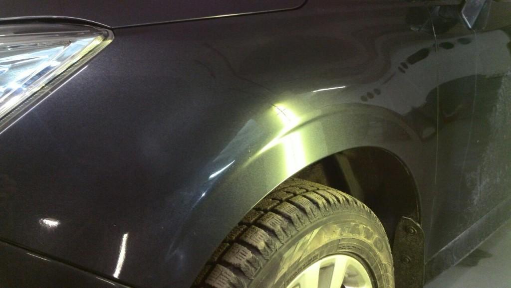 Subaru Forester - вмятина после выправления