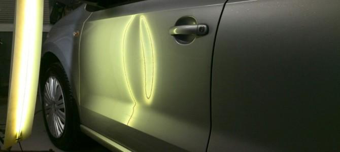 WV Polo — вмятина на передней левой двери
