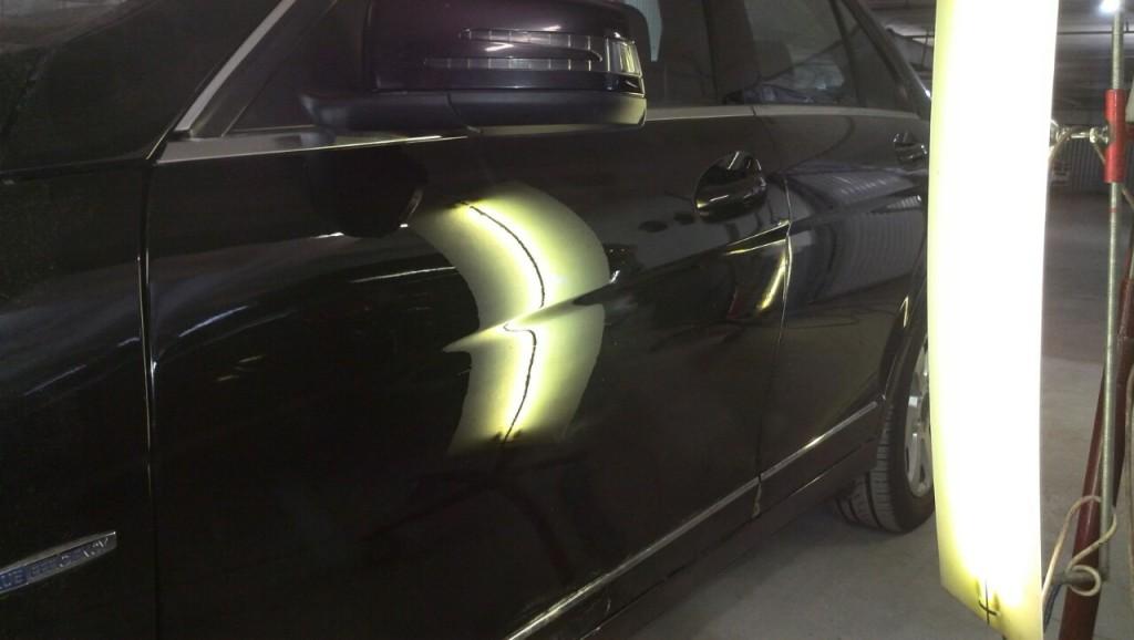 Mercedes W204 - вмятина после выправления
