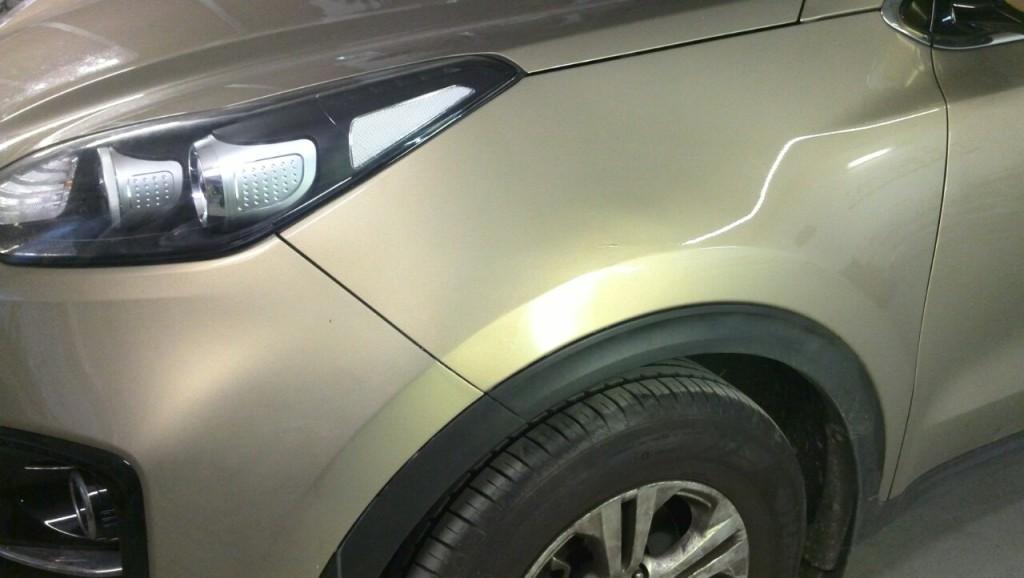 Kia Sportage - вмятина после ремонта