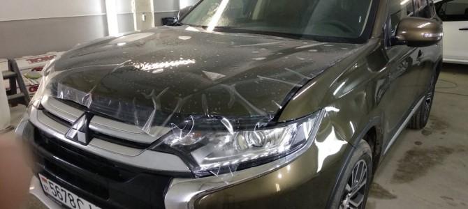 Частичная оклейка Mitsubishi Outlander защитной пленкой HEXIS BODYFENCE