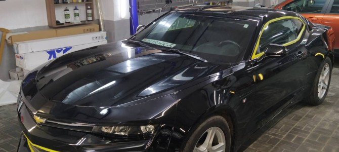 Chevrolet Camaro — полировка кузова.